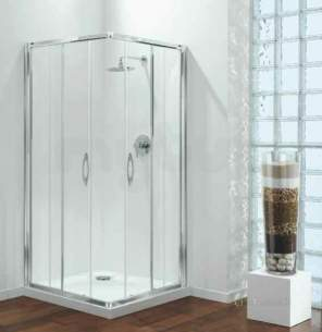 Coram Premier Shower Packs -  Coram Premier 900mm Corner Entry Pack Wh/cl