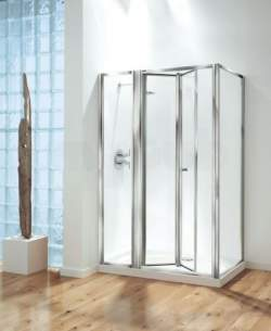 Coram Optima Shower Enclosures -  Coram Optima 1200mm Inline Panel Wh/cl
