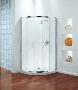 Coram Premier Shower Enclosures -  Coram Premier 800mm Quadrant Pack Wh/cl