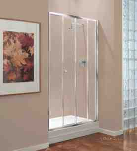 Center 4mm Shower Enclosures -  Center 1200mm Sliding Door Chrome/clear Door Only