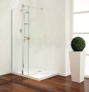 Coram Walk In and Accessories -  Coram Gl Pillar Shower Panel 1000mm Chrome/modesty Panel 1