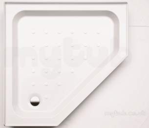 Coram Waterguard Shower Trays -  Coram Pentagon Tray Riser Kit Rkstp90