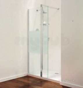 Coram Walk In and Accessories -  Coram Stylus 1000mm Front Panel Chrome/modesty Panel 1