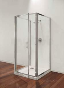 Coram Premier Shower Enclosures -  Premier Side Panels 760mm Polished Silver/satin Glass
