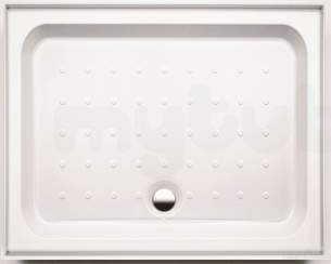 Coram Waterguard Shower Trays -  Coram 1400x800 White 4 Upstand/2 Panels