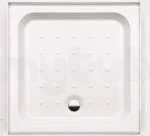 Coram Waterguard Shower Trays -  Coram 800x800 White 4 Upstand/2 Panels