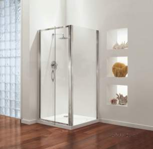 Coram Premier Shower Enclosures -  Premier Swing Door 800mm Polished/plain Glass Door Only