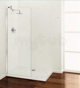 Coram Walk In and Accessories -  Coram Shower Panel 1200mm Angled Brace Chrome/clear