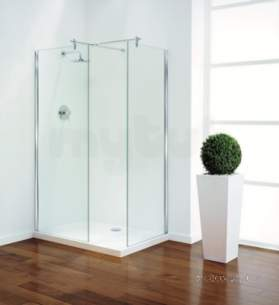 Coram Walk In and Accessories -  Coram Gl Tube Shower Panel Straight Brace 700mm Chrome/clear