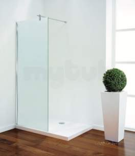 Coram Walk In and Accessories -  Coram Shower Panel 900mm Angled Brace Chrome/satin