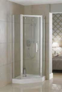Ideal Standard Synergy Shower Enclosures -  Ideal Standard Synergy L6215 Pent Panel 900mm Sil Clear