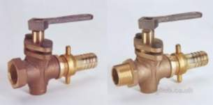 Crane General Valves -  Crane D344 Bronze Gland Cock Plus Lever 20