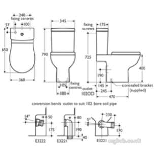 Ideal Standard Create -  Ideal Standard Edge And Sqr E3029 6l Dfv Bsio Cistern Wh
