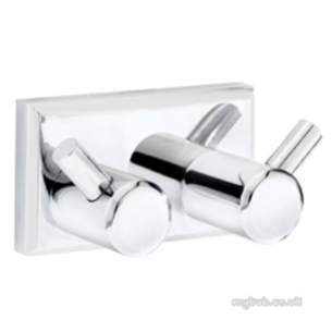 Croydex Bathroom Accessories -  Croydex Prof Double Robe Hook Cp