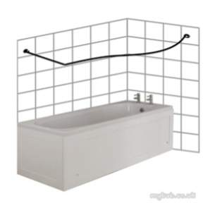 Croydex Shower Curtains and Rails -  Croydex P Shape To Wall Rod 1850 X 1000 Ch