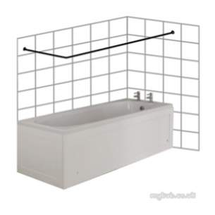 Croydex Shower Curtains and Rails -  Croydex L Shape Rod 1000 X 1000mm Chrome