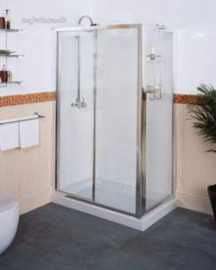 Roman Shower Enclosures -  Roman 1200mm Collage Sliding Dr Enc Slv
