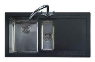 Rangemaster Sinks -  Cubix Gemini N/stn 15b Rhd Black And Ap