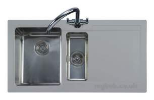 Rangemaster Sinks -  Cubix Cx9852si/ 985x508mm 1.5b Sink Silv