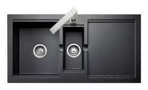 Rangemaster Sinks -  Cubix Cx9852 985x508mm 1.5b Sink Blk