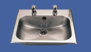 Sissons Stainless Steel Products -  Hb4 D20168n 470 X 388mm Inset Basin Ss