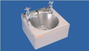Sissons Stainless Steel Products -  D20195n Model A Wash H/basin Waste And Taps