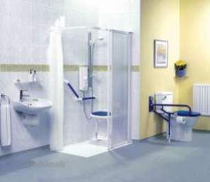 Akw Medicare Products -  22366l Dalby Shower Tray 1200 X 700 Lh