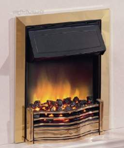 Dimplex Electric Fires -  Dimplex Danesbury Optiflame Fire Brass
