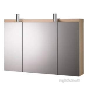 Ideal Standard Art and design Furniture -  Ideal Standard Daylight K2232 Mirror Cab 1000m Grey Oak