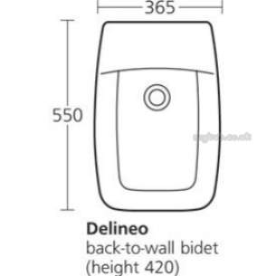 Ideal Standard Sottini Ware -  Ideal Standard T501001 Delineo Btw Bidet 1th White
