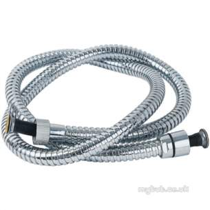 Deva Brassware -  Deva Conical Shower Hose 1500mm Cp