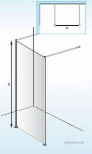 Akw Medicare Products -  Lb00112 F/s Shower Screen 1000mm X1950mm