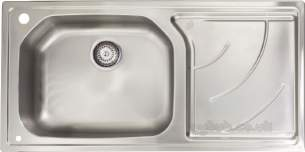 Astracast Sinks and Accessories -  Echo 1.0b Feature Sink Pack Brushd Steel