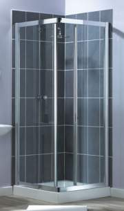 Aqualux Shower Enclosures and Bath Screens -  Elite Xtra 800 Corner Entry Silver Clear