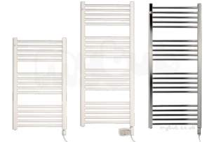 ELNUR Electrical Towel Radiators -  White Thermostatic Control With Boost 300w