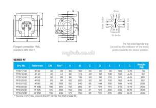Esbe Limited -  Esbe 4f100 4way Rotary Valve Flanged Pn6