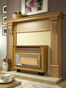 Flavel Gas Fires -  Flavel Misermatic Deluxe Etc Ng Teak