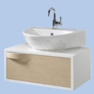 Twyford Galerie Plan Furniture -  Flow Furniture 1dwr 60/65cm Basin Oak Fw0130ok