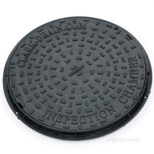 Manhole Covers Frames and Gully Grates -  Clark Drain 450mm Dia Poly Mcf Lock 3.5t