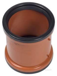 Clark Drain Polypropylene Drainage Channel -  110mm Double Socket Pvc Slip Coupling
