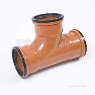 Clark Drain Polypropylene Drainage Channel -  110mm 90deg T/socket Equal T Pvc Junctn