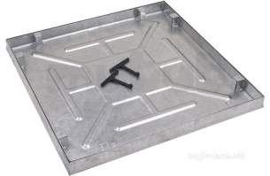 Manhole Covers and Frames Steel and Galv -  M C F 600x600 Aqua Knight Recessed Tray