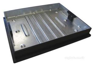 Manhole Covers and Frames Steel and Galv -  Mcf 600x450 Galv Block Pavior Cd 790r/80