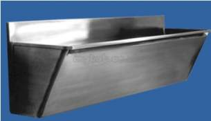 Sissons Stainless Steel Products -  G22012r 750 X 400 X 470/500 Scrub Up Trough