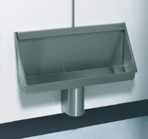 Sissons Stainless Steel Products -  Saracen 1200 W/m Urinal Exp/conc Ss