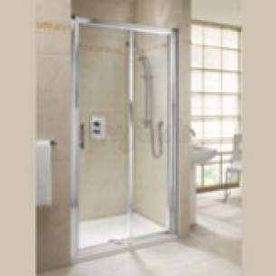 Twyford Geo6 and Hydr8 Enclosures -  Geo6 1000mm Sliding Door Silver G66500cp