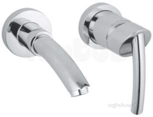 Grohe Tec Brassware -  Tenso Ohm 2-h Basin M Wall Mtd 180mm Sp 19289000