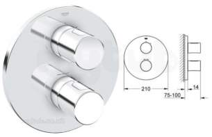 Grohe Shower Valves -  Grohe 3000c Trim Shower Cp 19464000