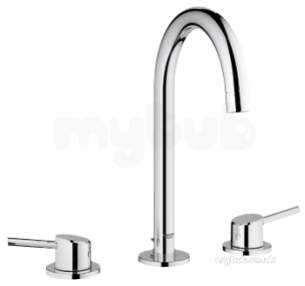 Grohe Tec Brassware -  Concetto 2hdl Basin 3-hole 20216001
