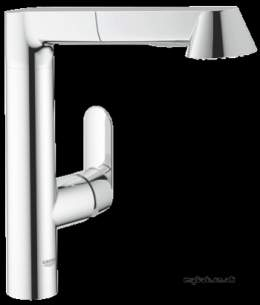 Grohe Kitchen Brassware -  Grohe K7 32176000 Ohm Sink Pullout Spray